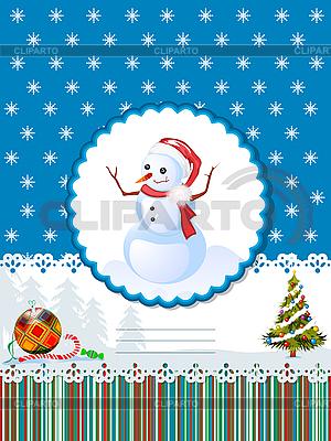 Decorative winter holidays card   Stock Vector Graphics  ID 3071600