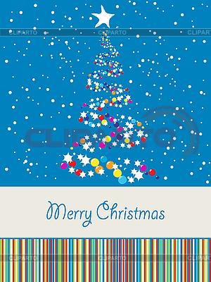 Joyous Christmas card | Stock Vector Graphics |ID 3082499