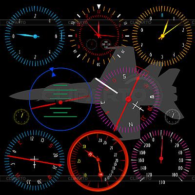 Modern airplane dashboard   Stock Vector Graphics  ID 3089336