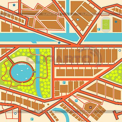 Seamless city | Klipart wektorowy |ID 3089350