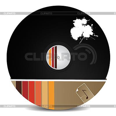 Stylowa płyta winylowa | Klipart wektorowy |ID 3122891