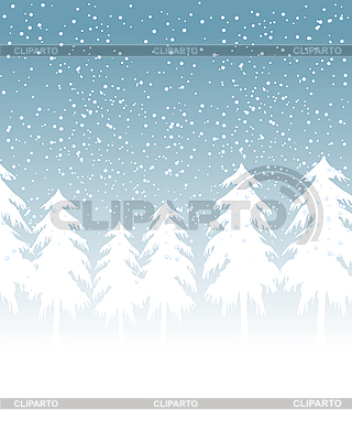 Krajobraz śnieżna zima | Klipart wektorowy |ID 3122893