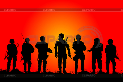 Soldiers | Stock Vector Graphics |ID 3124761