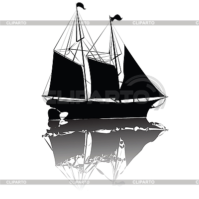 Beautiful old ship | Stock Vector Graphics |ID 3134770