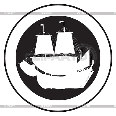 Emblem of an old ship | Stock Vector Graphics |ID 3152244