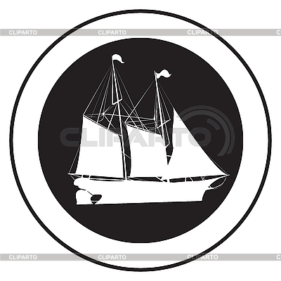 Emblem of an old ship | Stock Vector Graphics |ID 3152246