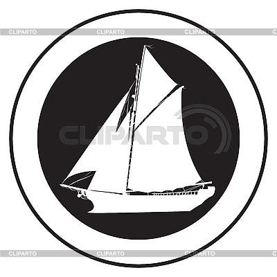 Godło starym statku | Klipart wektorowy |ID 3152248