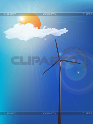 Modern windmill | Stock Vector Graphics |ID 3225436
