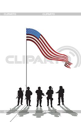 Fünf Soldaten, Silhouetten | Stock Vektorgrafik |ID 3271159