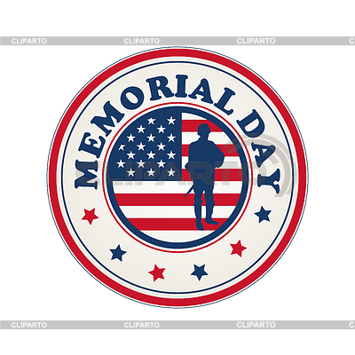 Memorial Day stamp | Klipart wektorowy |ID 3271169