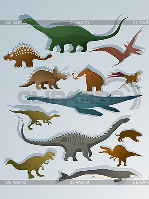 Cartoon style dinosaurs | Stock Vector Graphics |ID 3319009
