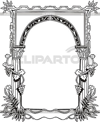 Kwiatów ozdobnych arch | Klipart wektorowy |ID 3006331