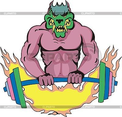 Monster-Vorlage mit Gewichte | Stock Vektorgrafik |ID 3006391