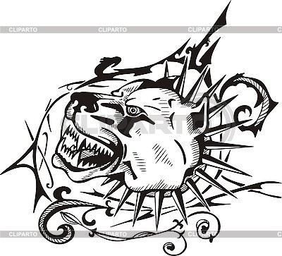 Tattoo dog with collar | Stock Vector Graphics |ID 3006395