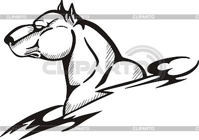 Tattoo pies | Klipart wektorowy |ID 3006399