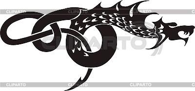 Smok tatuaż | Klipart wektorowy |ID 3006707