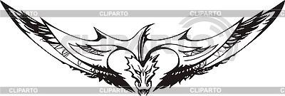 Smok tatuaż | Klipart wektorowy |ID 3006719