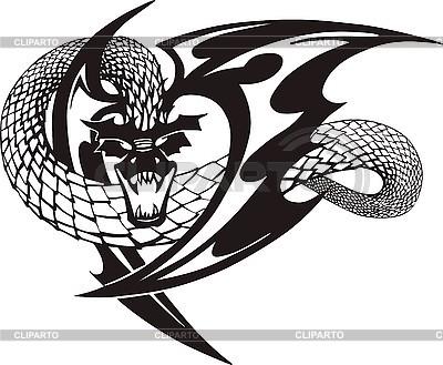 Dragon tattoo   Stock Vector Graphics  ID 3006743