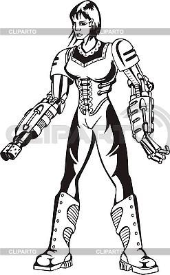 Cyborg-Frau | Stock Vektorgrafik |ID 3006899