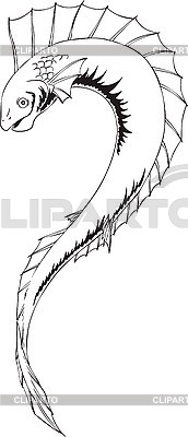 Ryba potwór | Klipart wektorowy |ID 3007023