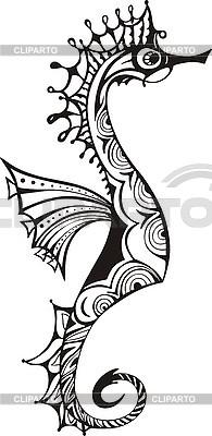 Ornamental sea horse   Stock Vector Graphics  ID 3010335