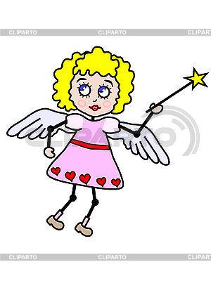 Blonder Engel Mädchen | Illustration mit hoher Auflösung |ID 3010573