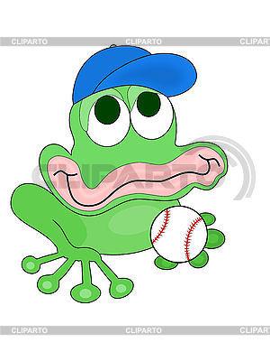 Baseballspieler Frosch | Illustration mit hoher Auflösung |ID 3010576