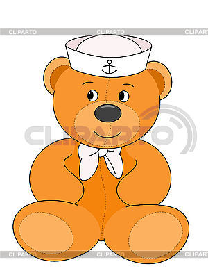 Navy teddy bear | High resolution stock illustration |ID 3010625