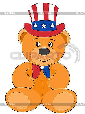 Patriotic teddy bear | High resolution stock illustration |ID 3010626