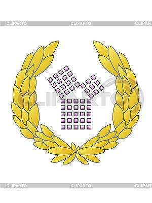 Emblem Satz des Pythagoras | Illustration mit hoher Auflösung |ID 3011165