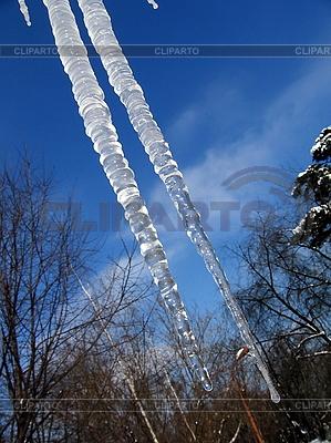 Zwei Eiszapfen | Foto mit hoher Auflösung |ID 3012032