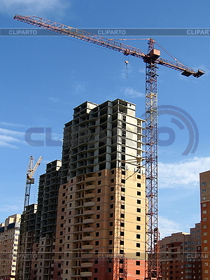 Crane near the new high house | High resolution stock photo |ID 3012102