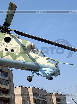 Helicopter over house   High resolution stock photo  ID 3012129