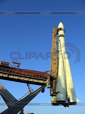 Белая космическая ракета | Фото большого размера |ID 3012231