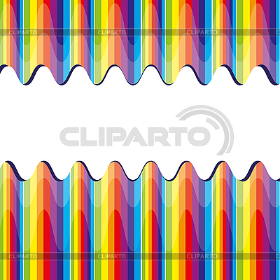 Broken Rainbow paski | Klipart wektorowy |ID 3011168