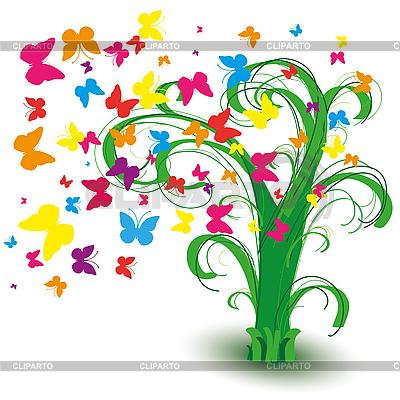 잔디 싶게 나비 | 벡터 클립 아트 |ID 3011246
