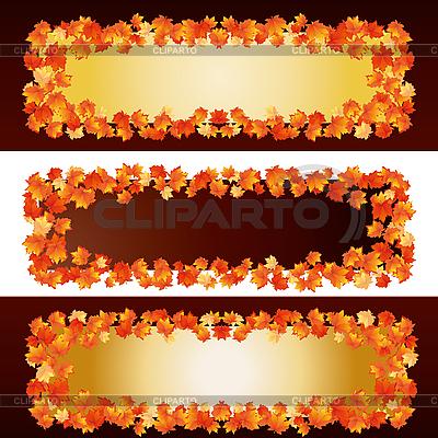 Autumn banners | High resolution stock illustration |ID 3011276