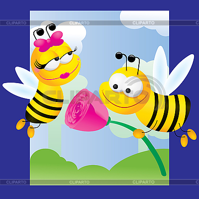 Bees in love | Stock Vector Graphics |ID 3011319
