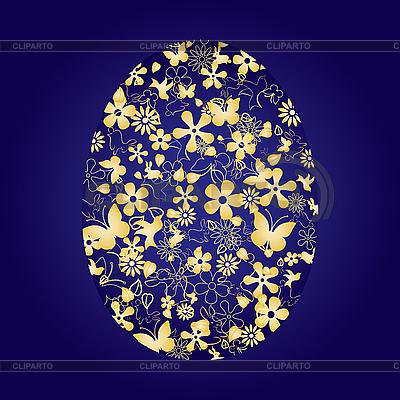 Blaues Osterei | Stock Vektorgrafik |ID 3011339