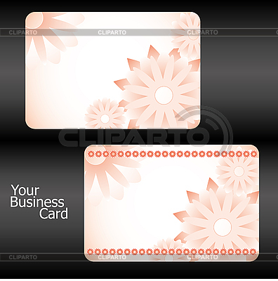 Visitenkarte mit Blumen | Stock Vektorgrafik |ID 3011373