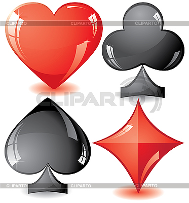 Playing card suits | Stock Vector Graphics |ID 3011388