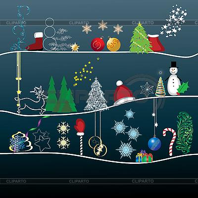Christmas greetings card | Stock Vector Graphics |ID 3011404