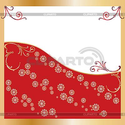 Red Kartki świąteczne pozdrowienia | Klipart wektorowy |ID 3011406