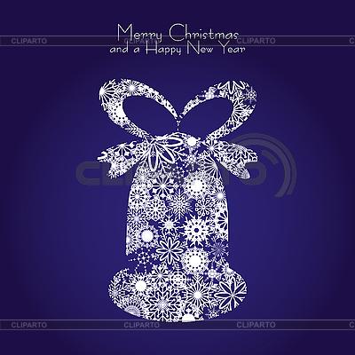 Weihnachtsglocke von Schneeflocken | Stock Vektorgrafik |ID 3011422
