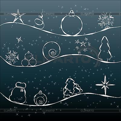 크리스마스 카드   벡터 클립 아트  ID 3011436