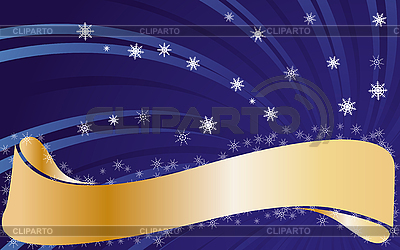 텍스트 황금 리본 크리스마스 카드   벡터 클립 아트  ID 3011462