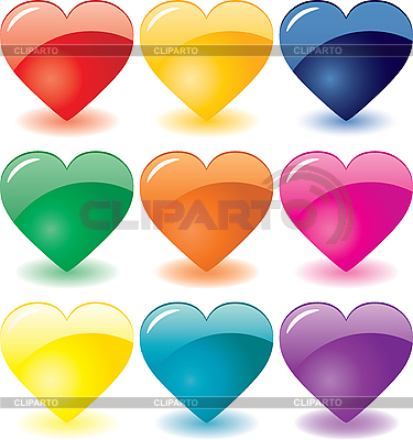 Glass heart icons | Stock Vector Graphics |ID 3011566