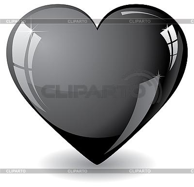 闪闪发光的黑色心脏 | 向量插图 |ID 3011568