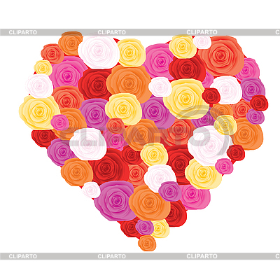 Rose heart   Stock Vector Graphics  ID 3011717