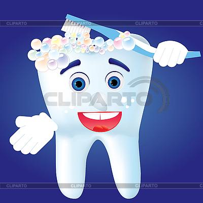 Zahn mit Zahnbürste | Stock Vektorgrafik |ID 3011778